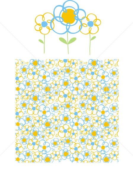 Printemps graphique style fleurs modèle Photo stock © hayaship