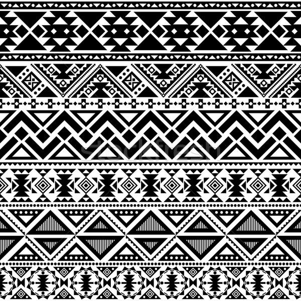 племенных аннотация геометрический этнических стиль Сток-фото © hayaship