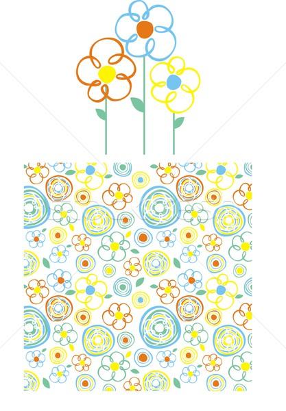 весны графических набор стиль цветы шаблон Сток-фото © hayaship