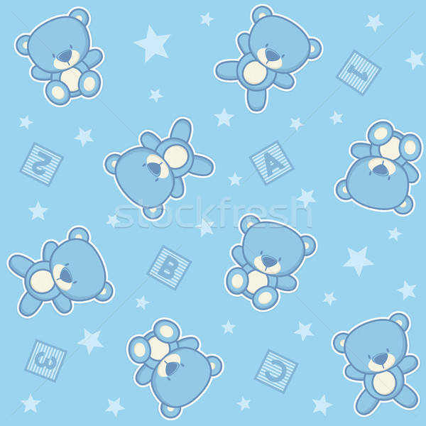 cute teddy bear seamless background Stock photo © hayaship