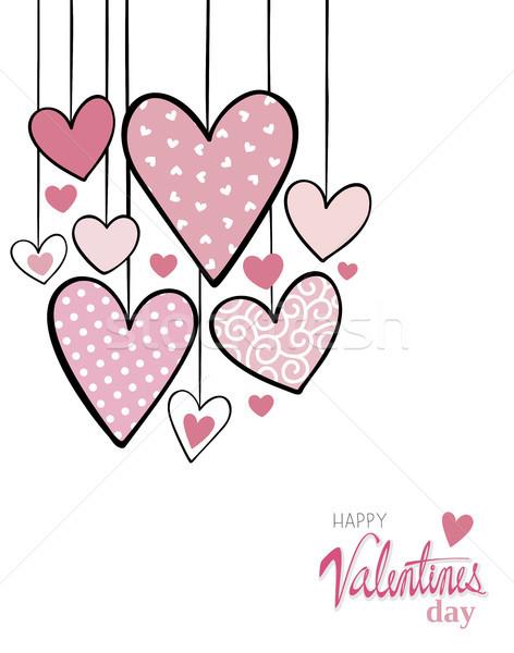 édes szívek valentin nap kártya valentin nap aranyos Stock fotó © hayaship