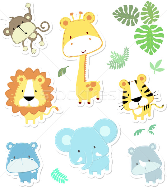cartoon baby jungle animals quotes. Black Bedroom Furniture Sets. Home Design Ideas