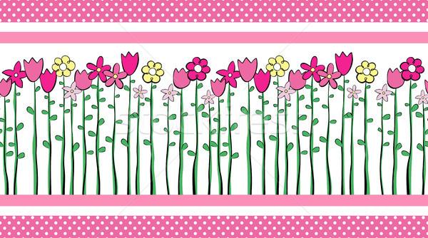 cute flowers border  Stock photo © hayaship