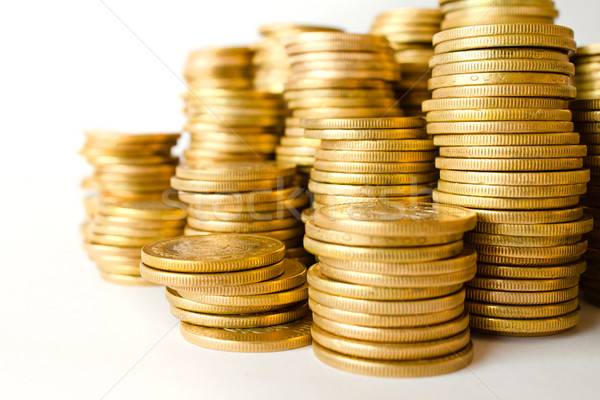 piles of coins Stock photo © hayaship