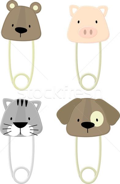 baby pet animals safety pins set Stock photo © hayaship