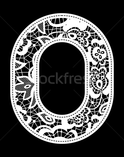 embroidery lace number 0 Stock photo © hayaship