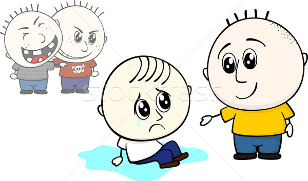 helping bullied child Stock photo © hayaship