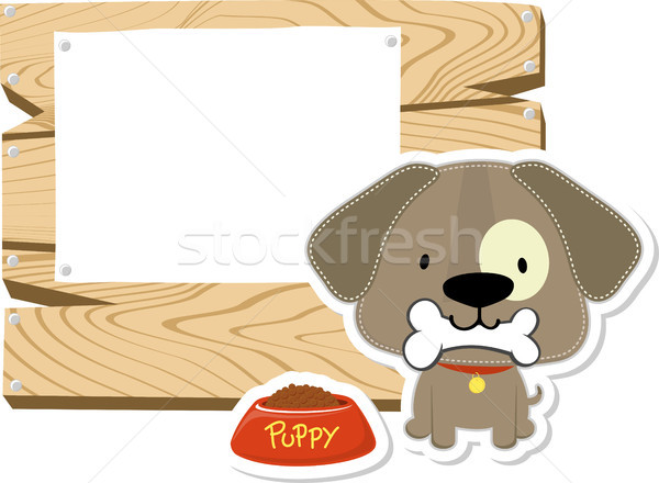 cute doggy blank board Stock photo © hayaship