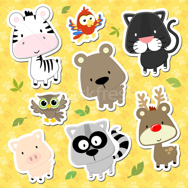 baby animals cartoon collection Stock photo © hayaship