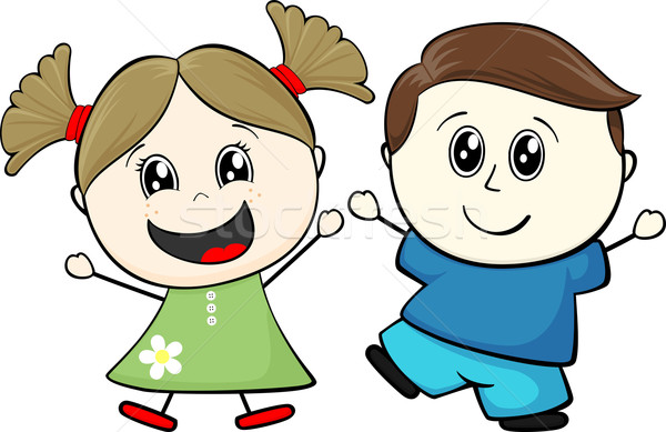children cartoon Stock photo © hayaship
