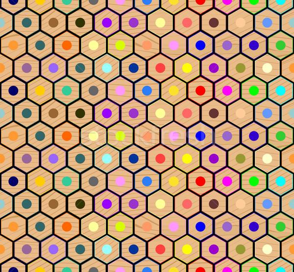 colored pencils seamless pattern Stock photo © hayaship