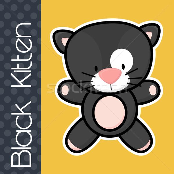 赤ちゃん 黒猫 かわいい 文字 固体 ストックフォト © hayaship