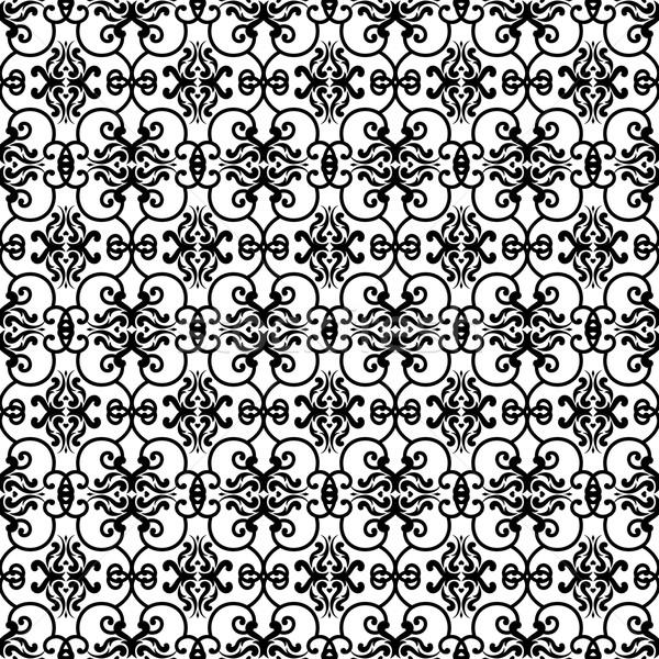 Régi tapéta minta terv fehér absztrakt háttér Stock fotó © hayaship