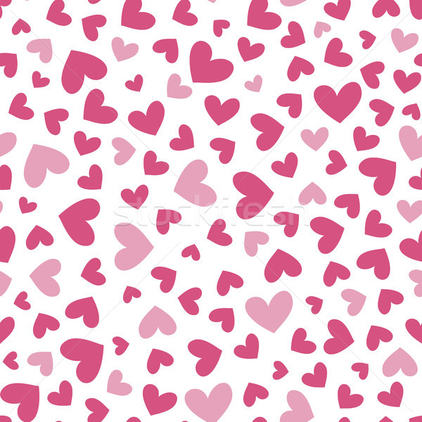 seamless pattern with simple heart shapes in  two colors Stock photo © hayaship