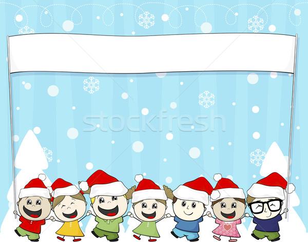 christmas card children Stock photo © hayaship