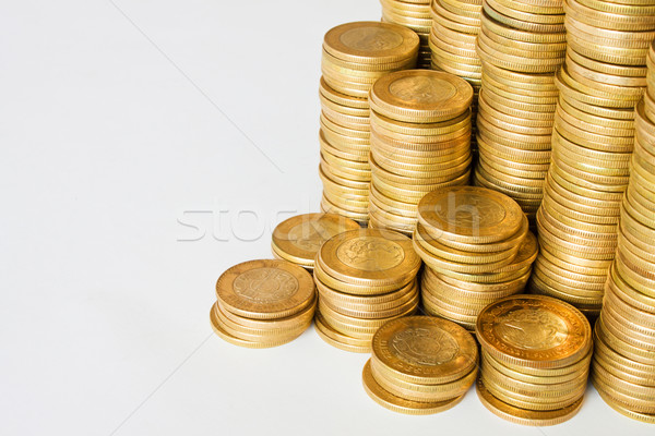 piles of coins background Stock photo © hayaship