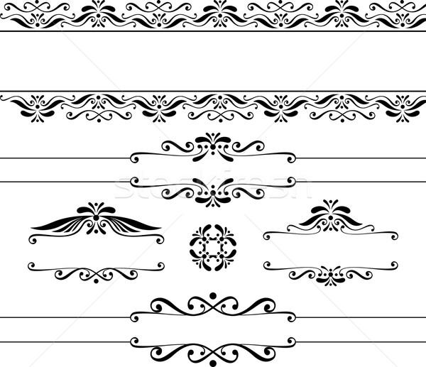 Vintage bannières décoratif design isolé Photo stock © hayaship