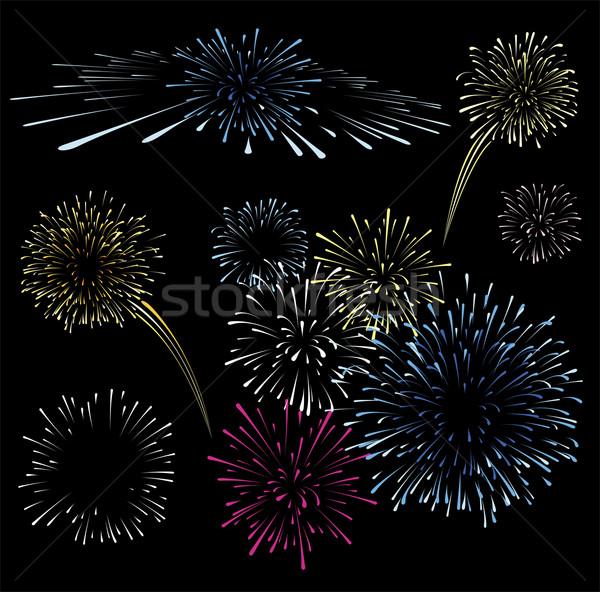 fireworks vector collection Stock photo © hayaship