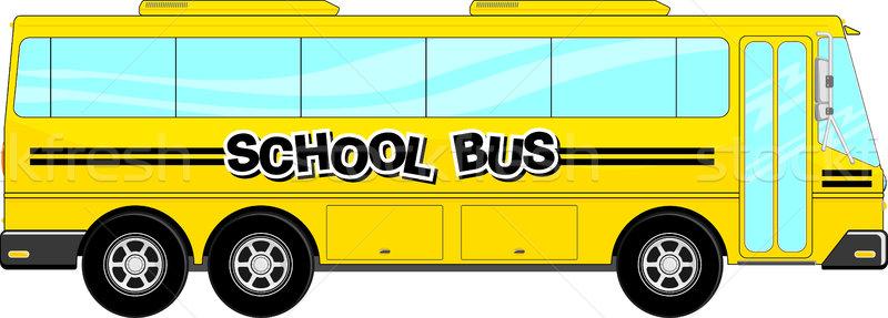 スクールバス ベクトル 黄色 孤立した 白 車 ストックフォト © hayaship