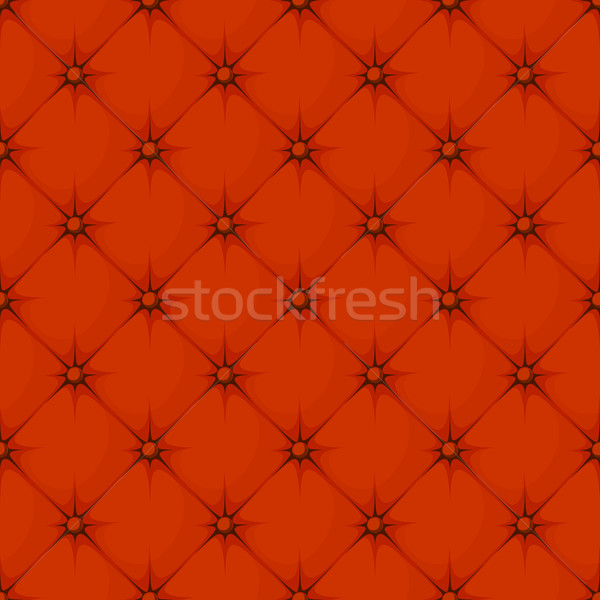 red padded upholstery buttoned rhomb seamless pattern Stock photo © hayaship