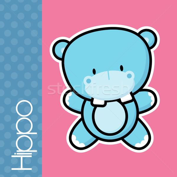Bébé cute peu texte solide Photo stock © hayaship