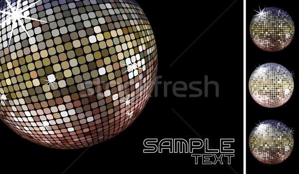 Diszkó buli háttér fekete retro labda Stock fotó © hayaship