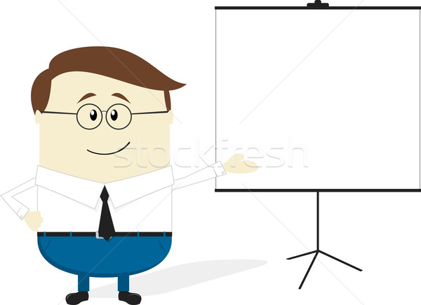 businessman flip chart Stock photo © hayaship