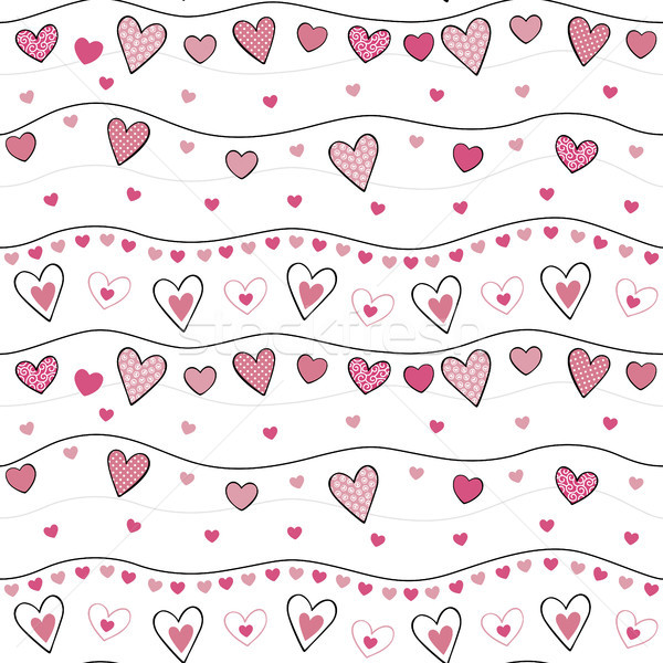 ornamented sweet hearts seamless pattern Stock photo © hayaship