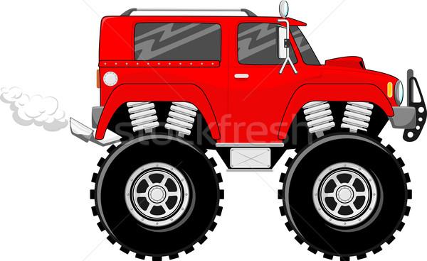 Monster vrachtwagen 4x4 cartoon illustratie groot Stockfoto © hayaship