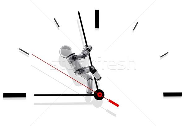 Temps rendu 3d mettre métaphore affaires Photo stock © hayaship