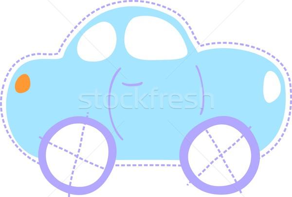 Bébé peu voiture isolé illustration facile Photo stock © hayaship