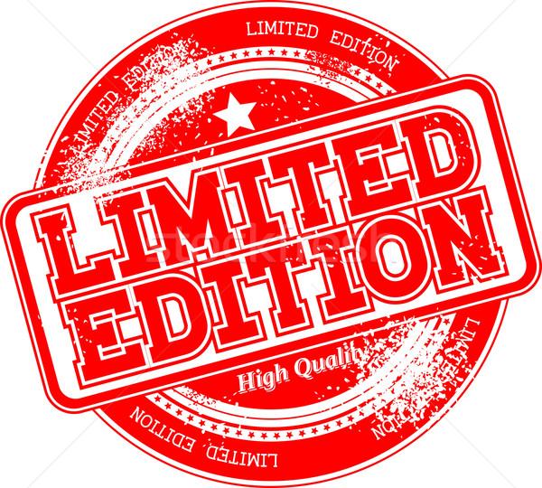 limited edition grunge stamp Stock photo © hayaship
