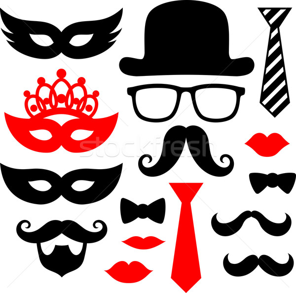 mustaches and lips for party props Stock photo © hayaship