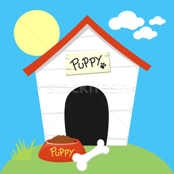 funny dog house cartoon Stock photo © hayaship