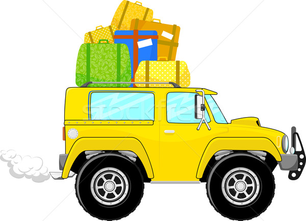 on vacation car truck cartoon Stock photo © hayaship