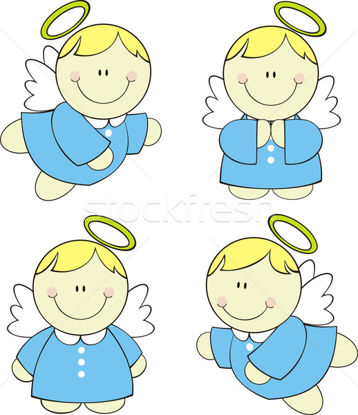 baby angels cartoon Stock photo © hayaship