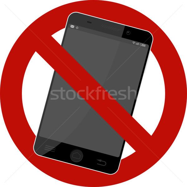 Сток-фото: нет · мобильных · знак · мобильного · телефона · изолированный