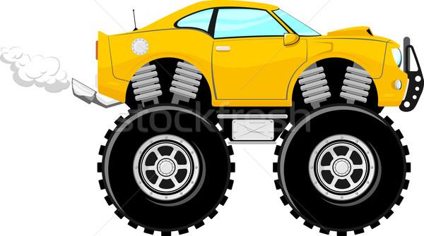 4x4 спорт автомобилей Cartoon монстр изолированный Сток-фото © hayaship