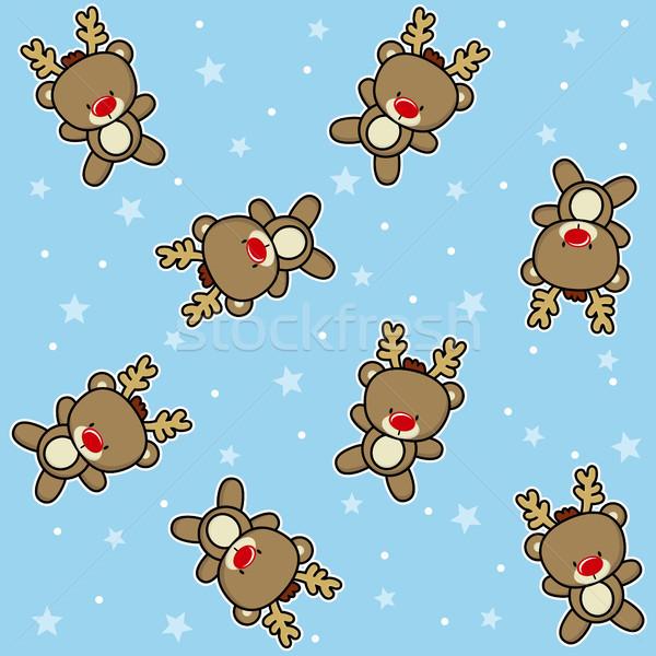 Noël cute bébé rennes neige Photo stock © hayaship