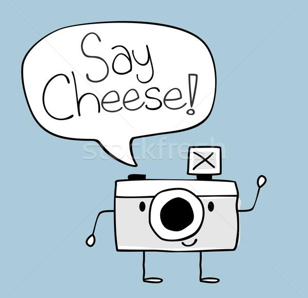 say cheese camera doodle Stock photo © hayaship