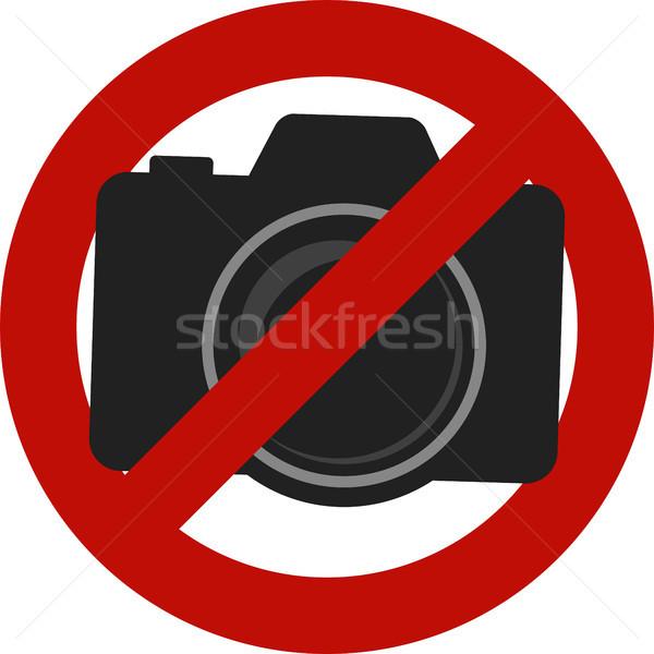Nem megengedett kamera fotók felirat izolált Stock fotó © hayaship