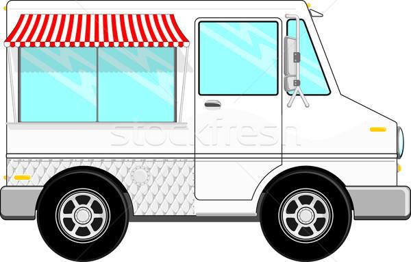 Alimentaire camion cartoon faible bus isolé Photo stock © hayaship