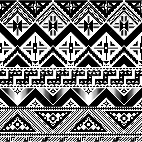 Kisebbségi absztrakt minta mértani végtelen minta stílus Stock fotó © hayaship
