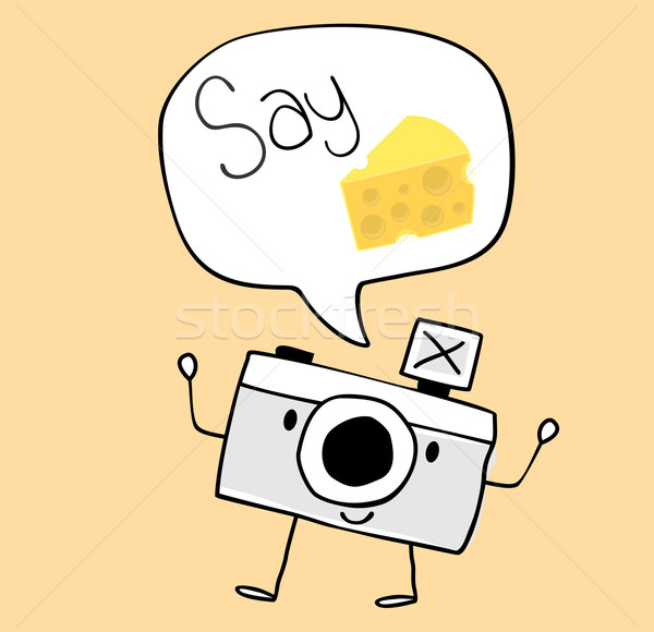 camera cartoon say cheese Stock photo © hayaship
