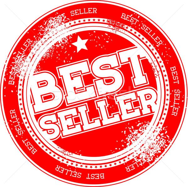 лучший продавец Гранж штампа изолированный белый Сток-фото © hayaship