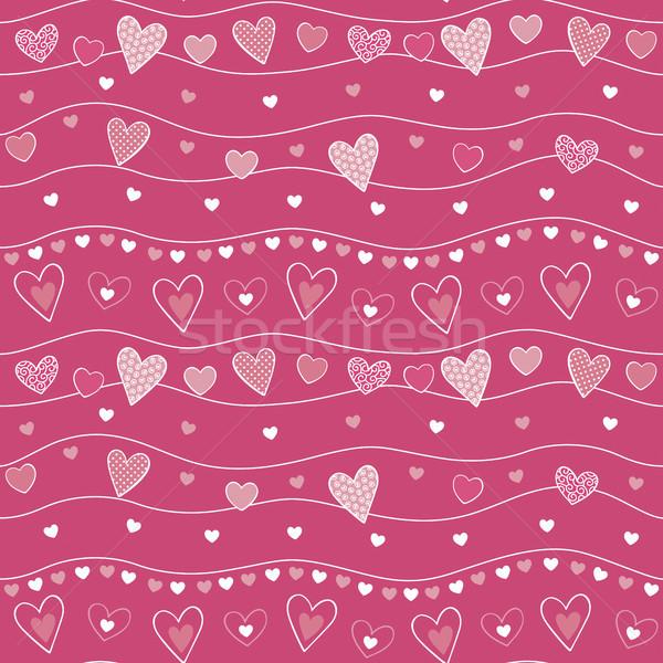 ornamented hearts seamless pattern Stock photo © hayaship