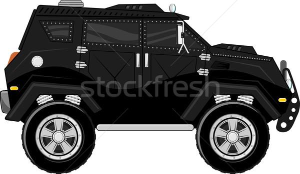armored truck bodyguard vehicle Stock photo © hayaship