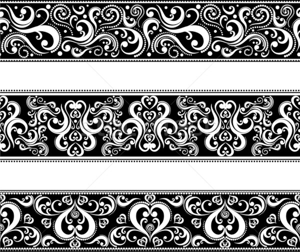 Ingesteld scroll ornamenten vector Stockfoto © hayaship