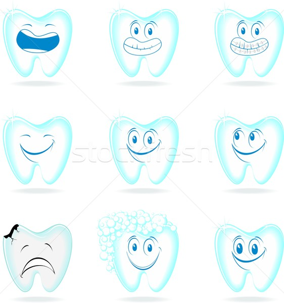 molar collection cartoon Stock photo © hayaship