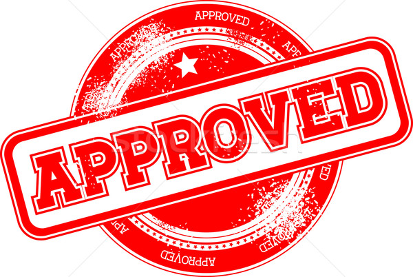approved grunge stamp Stock photo © hayaship